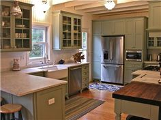 Gorgeous gourmet kitchen that includes a  farm sink and marble counters.  Oak Bluffs vacation rental on Martha's Vineyard