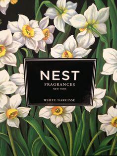 Nest candle - white narcisse
