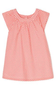 Sprout Peach Spot Flutter Dress