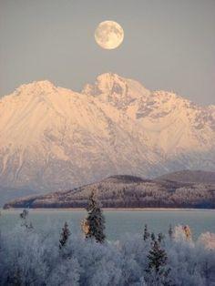 rhamphotheca:  Winter at Lake Clark National Park & Preserve, Alaska Photograph by W. Hill/NPS