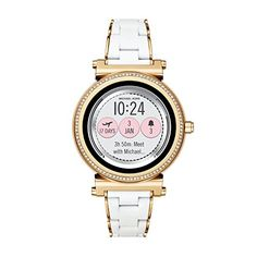 245ff917044df Michael Kors Access, Women s Smartwatch, Sofie Gold-Tone Stainless Steel  with White Silicone,