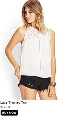 Lace-Trimmed Top