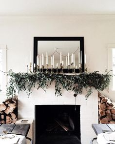 Christmas Mantle Decor 1 (Christmas Mantle Decor design ideas and photos Christmas Mantels, Noel Christmas, Xmas, Christmas Mantle Decorations, Homemade Christmas, Christmas Music, Scandi Christmas, Christmas Vacation, Christmas Gifts
