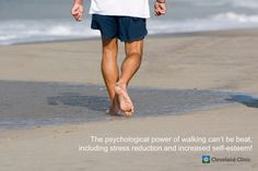 The psychological power of #walking can't be beat, including #stress reduction and increased self-esteem!