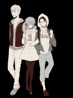 Farlan, Isabel and Levi - Attack on Titan - Shingeki no Kyojin my first favorite group
