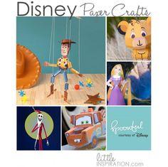 10 Disney 3D Paper Crafts #Free #Printables