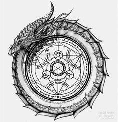 My Most Favorite Geometric Tattoo Ouroboros Tattoo, Norse Tattoo, Celtic Tattoos, Viking Tattoos, Tattoo Symbols, Body Art Tattoos, Tattoo Drawings, Sleeve Tattoos, Tatoos