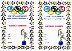 Olympics FREE Printable Birthday Party Invitations