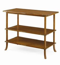 Edith Tiered Side Table in Caramel Finish with Antique Brass Hardware Also Shown in Carbon Finish Over 20 Finishes Available, Pricing Varies Colorful Pillows, Modern Bohemian, Contemporary Bedroom, End Tables, Bedside Tables, Architecture Design, Bookcase, Shelves, Interior