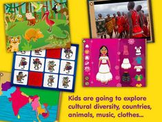Kids Planet Discovery - a fun way for children to discover the world. Educational Apps For Kids, Cultural Diversity, Culture, Elementary Schools, Mobile App, Discovery, Activities For Kids, Planets, Cool Stuff