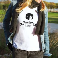 Un tshirt pour le meilleur moment de l'hiver : la raclette party !