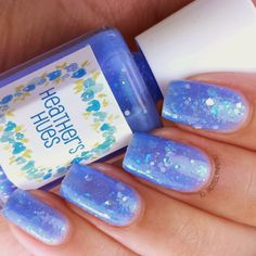 Glass Slippers by Heather's Hues, part of the Happily Ever Lacquered Collection inspired by Disney Princesses. Available for purchase at http://heathers_hues.storenvy.com/  #nail #nails #nailpolish #indie #polish #swatch #polishswatch #disney #princess #cinderella