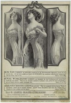 """Sylphide"" corset | 1909 Corset Ad - from digitalgallery.nypl.org"