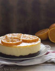 Tarta mousse de naranja sin horno, sin gluten y sin lactosa