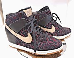 86ed0e94b6c VTG NIKE X STUSSY DUNK HIGH BLACK PURPLE 2013 high top heel shoes RARE SIZE  8  NIKE  WalkingShoes