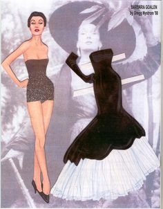 Barbara Goalen paper doll, a model / Gregg Nystrom facebook