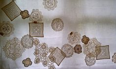 doily curtain detail, via Flickr.