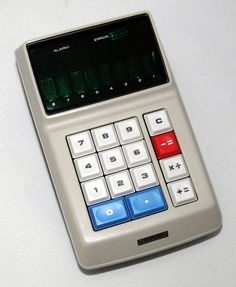 https://flic.kr/p/FBiixu | Vintage Sharp Model EL-8 Handheld Calculator, 4-Function, Display Is 8 Digits Green Itron Fluorescent Tubes, Made in Japan, Circa 1971
