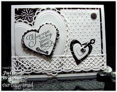 Love, Wedding or Valentine card -dies & images ODBD