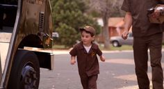 Little Boy's Wish Come True By Becoming UPS Driver For A Day