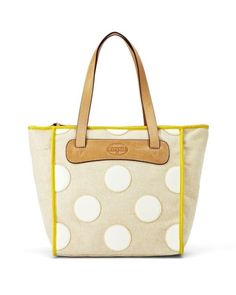 Fossil Key-Per Shopper Tote Bag - Bone