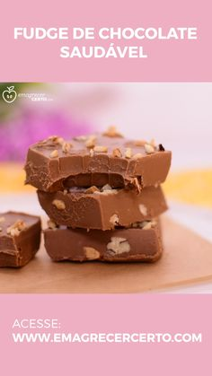 Creamy and Healthy Chocolate Fudge Baby Food Recipes, Sweet Recipes, Dessert Recipes, Healthy Chocolate, Chocolate Fudge, Snacks Saludables, Biscuit Recipe, Clean Eating Snacks, Food And Drink