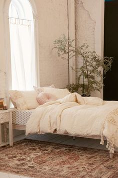 Xandra Trim Duvet Cover - Urban Outfitters