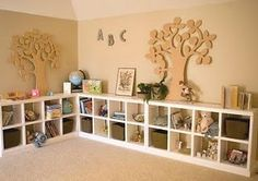 cubbies! I think I'm going to do something like this to my loft