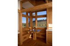 Breakfast Booth in House Plan 454-11 by Sarah Susanka