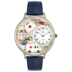 Whimsical Watches Unisex U0620024 EMT Navy Blue Leather Watch - http://www.artistic-watches.com/2016/01/14/whimsical-watches-unisex-u0620024-emt-navy-blue-leather-watch-2/