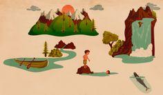 Woodland - Peridea Stickers by Giordano Poloni, via Behance