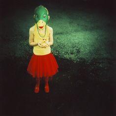 anas duck 8x10 archival print photograph of girl by pamelaklaffke, $30.00