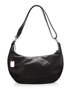 Furla Danielle Leather Hobo Shoulder Bag Black