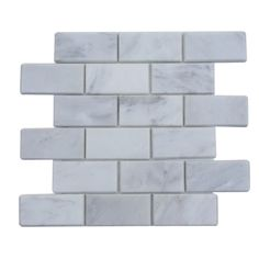 Ivy Hill Tile Oriental 12 in. x 12 in. x 8 mm Marble Floor and Wall - The Home Depot Marble Mosaic, Marble Floor, Stone Mosaic, Stone Tiles, Tile Floor, Glass Tiles, Carrara, Home Depot, Splashback Tiles
