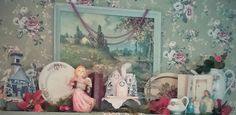 A Pink, Vintage Christmas, Putz House, Shabby Chic...photo by Julie Cruzan
