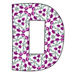 ArtbyJean - Paper Crafts: LITTLE MAGENTA FLOWERS on a SET OF ALPHABETS A to Z Clipart to cut and past on your paper crafts - For digital arts, collage, crafts, decoupage, cards and scrapbooks.