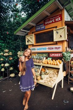 Hawaii Travel Bucketlist - Road to Hana, Maui - One of the best parts about Hawaii is all the fruit stands. I can't resist getting something whenever I pass one! More Hawaii travel ideas on our site!