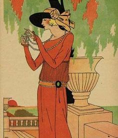 Art Deco postcard. - Click image to find more Art Pinterest pins