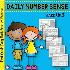 You are looking at a free download that includes 5 practice pages taken from the Daily Number Sense units. It includes pages from 5 different months. The daily number sense units increase in difficulty each month. I used these monthly units in my own classroom, completing one page a day. It is p... Place Value Worksheets, Math Place Value, Place Values, Kids Worksheets, Daily Number, Daily Math, Teaching Numbers, Numbers Kindergarten, Number Sense Activities