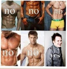 Yeah.All those abs and V's just freak me out,but when it gets to Patrick its like a miracle.