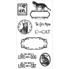 Cling Stamp Raining Cats and Dogs 2