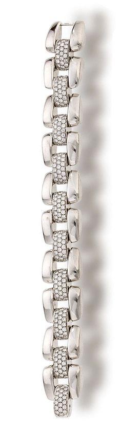 An eighteen karat white gold and diamond bracelet,♥✤ | Keep the Glamour | BeStayBeautiful