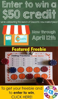 Have you heard the news?!  Educents is opening their marketplace TODAY!  As with any great launch, there are lots of exciting giveaways for you to enter and freebies to download!  Intrigued?  Visit us to see how you can win $50 in Educents credit and the product of your choice from my Educents store!