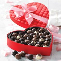 Give a gift of premium chocolate truffles to someone special. Find a beautiful satin heart box filled with exquisite fine chocolates at Mrs Prindables. Chocolate Delight, Love Chocolate, Chocolate Truffles, Chocolate Lovers, Chocolate Recipes, Valentines Day Treats, Love Valentines, Valentine Gifts, Valentine Wishes