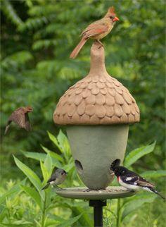 1000 images about acorns on pinterest oak leaves the for Acorn feeder