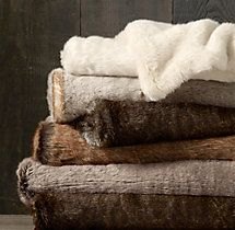 WHITE - Sumptuous softness, perfect for long cozy afternoons in front of the fire. Luxe Faux Fur Throws from Restoration Hardware. Restoration Hardware, Home Design, Abigail Ahern, Faux Fur Throw, Faux Fur Rug, Faux Fur Blanket, Soft Blankets, Cheap Throw Blankets, Winter Blankets