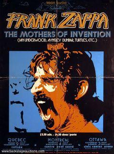 Frank Zappa & Mothers - 1971 07 02 concert 'Colisée', Quebec, Canada; 1971 07 03 concert 'Centre Paul Sauvé', Montreal, Canada; 1971 07 04 concert Civic Center Arena', Ottawa, Canada.