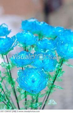 plastic bottle flower | ... flower handmade make modern no people plastic plastic bottle platic