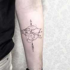 Cute-little-tattoos-with-their-actual-importance - Tatoo - # Map Tattoos, Body Art Tattoos, Tatoos, Travel Tattoos, Tattoo Bh, Piercing Tattoo, Fun Tattoo, Tattoo Pics, Piercings