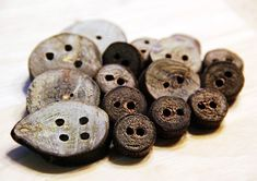 DIY Wood Buttons, for my knits...love this idea